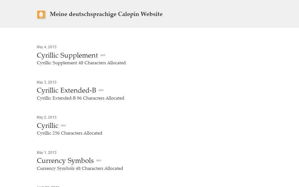deutsche.calepin.co-Meine deutschsprachige Calepin Website
