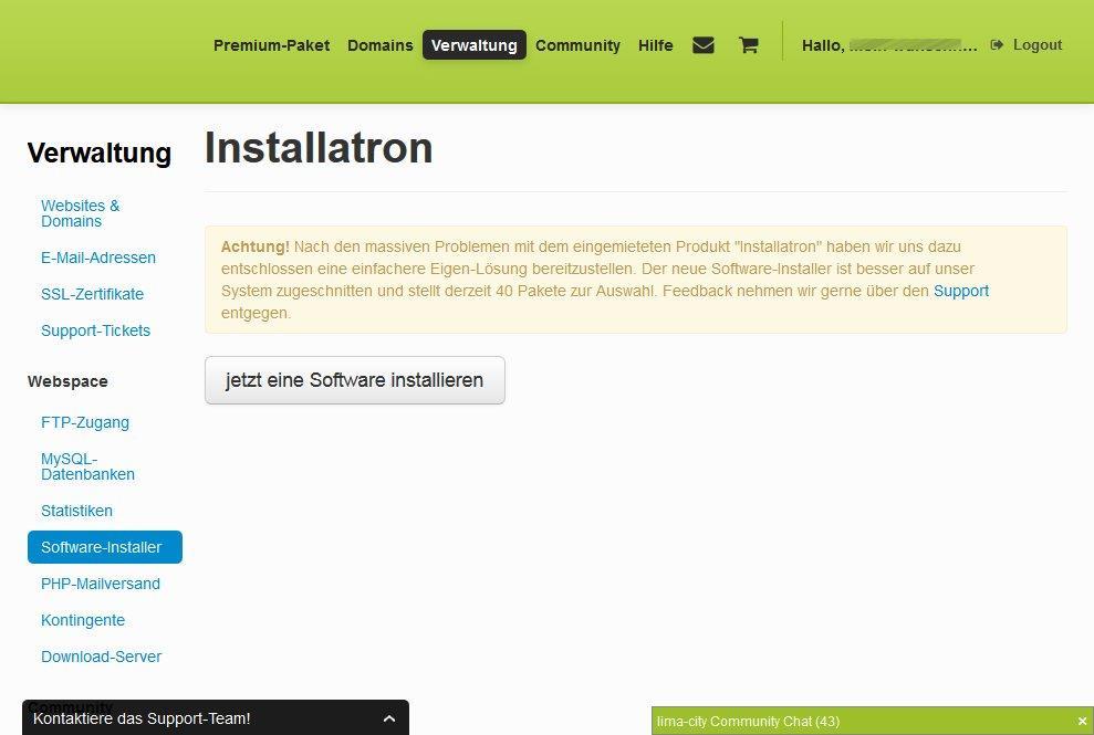 Software Installer bei Lima City