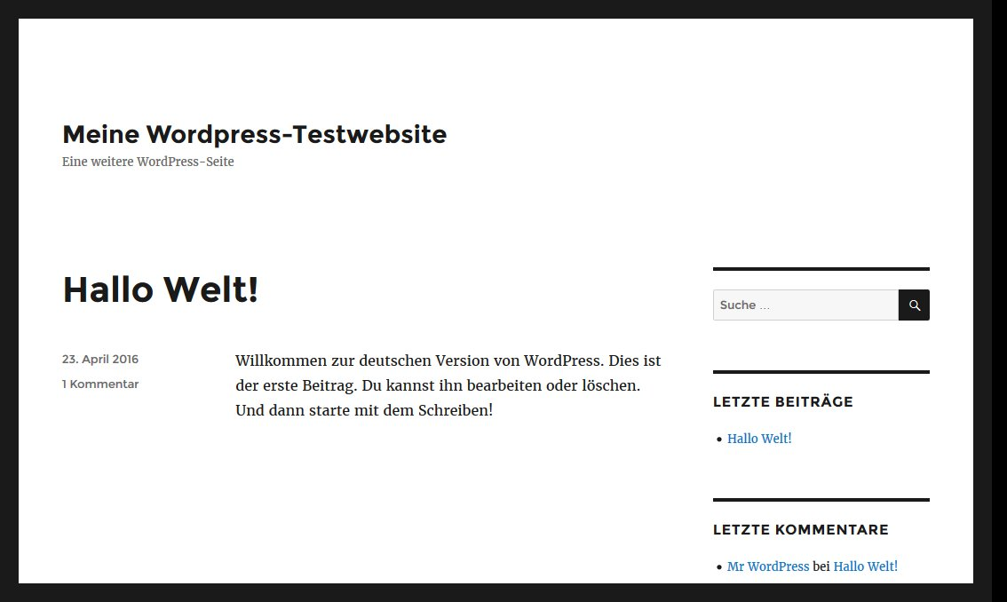Wordpress nach der Installation