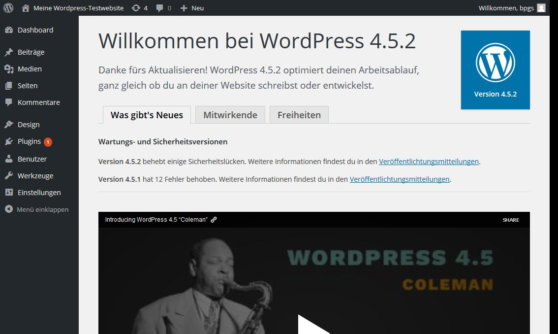 Wordpress nach Core update