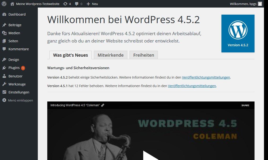 Wordpress nach Core update
