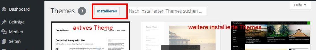 Theme installieren