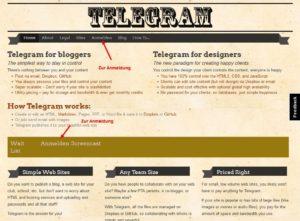 Telegram-Home-Anmeldung auswählen
