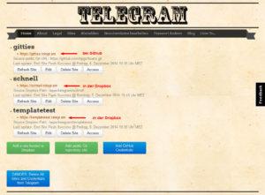Telegr.am-Website-Übersicht