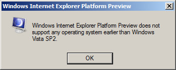 Installation des Internet Explorer 9 Plattform Preview